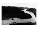 Petersburg, Alaska - Aerial View of Town, Wrangell Narrows Posters by  Lantern Press