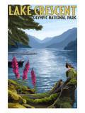 Olympic National Park, Washington - Lake Crescent Giclée-Premiumdruck von  Lantern Press