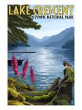 Olympic National Park, Washington - Lake Crescent Poster by  Lantern Press