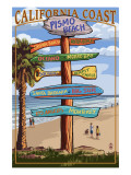 Pismo Beach, California - Destination Sign Posters