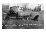 Nome, Alaska - Man in a Dog Carriage Prints by  Lantern Press
