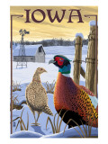 Pheasants - Iowa Art par  Lantern Press