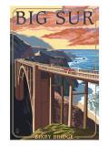 Bixby Bridge - California Coast Art by  Lantern Press