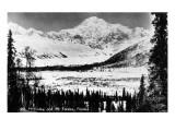 Alaska - Mt McKinley and Mt Foraka Art by  Lantern Press
