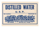 Distilled Water Posters