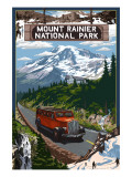 Mount Rainier National Park Art by  Lantern Press