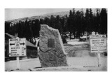 Colorado - Continental Divide Marker at Berthoud Pass Posters