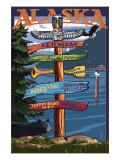 Ketchikan, Alaska - Destination Sign Posters
