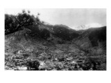 Manitou Springs, Colorado - Panoramic View of Town Prints