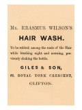 Mr. Erasmus Wilson's Hair Wash Posters