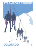 Steamboat Springs, Ski Lift Kunstdrucke von  Lantern Press