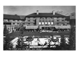 Sun Valley, Idaho - View of Lodge and Ice Rink Prints