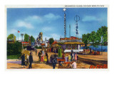 Chicago, Illinois - Worlds Fair; Enchanted Island Scene Prints