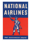 Nation Airlines - the Buccaneer Route Posters