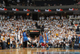 Oklahoma City Thunder v Memphis Grizzlies - Game Four, Memphis, TN - MAY 9: Mike Conley and Kendric Fotografisk tryk af Joe Murphy