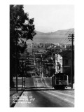 San Francisco, California - Cable Cars on Fillmore Street Hill Poster von  Lantern Press