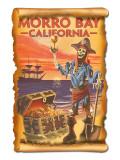 Morro Bay, CA - Pirate Plunder Poster by  Lantern Press