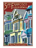 San Francisco, California - Painted Ladies Posters by  Lantern Press
