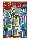 San Francisco, California - Painted Ladies Art