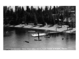 Idaho - Lake Coeur d'Alene; Camp Sweyolakan Prints by  Lantern Press