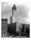 Pioneer Square and Smith Tower Construction - Seattle, WA Kunstdrucke