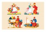 Four Dutch Scenes Print