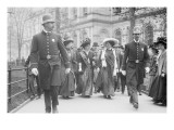 Suffragettes, Preceded By Policemen, Leaving City Hall, New York Prints