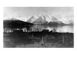Seward, Alaska - Panoramic View of Mountains and Ocean Prints