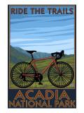 Acadia National Park, Maine - Bicycle Scene Kunstdrucke von  Lantern Press