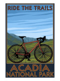Acadia National Park, Maine - Bicycle Scene Prints by  Lantern Press
