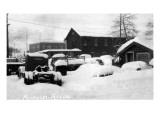 Fairbanks, Alaska - Snow Covered Trucks Prints by  Lantern Press