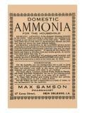 Domestic Ammonia Prints