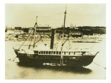 Steam Paddlewheeler at Anchor in Bay Giclee Print by Asahel Curtis