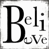 Believe Print by Louise Carey