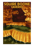 Squire Boone Caverns, Indiana - Rimstone Dams Posters by  Lantern Press