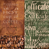 Coffee In Any Language Prints by Lisa Wolk