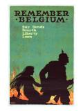 """Remember Belgium: Buy Bonds, Fourth Liberty Loan"", 1918 Giclée-tryk af Ellsworth Young"