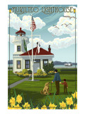 Mukilteo Lighthouse - Mukilteo, Washington Kunst von  Lantern Press