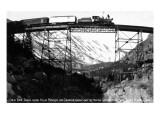 Colorado - Train on Georgetown Loop between Georgetown and Silver Plume Kunstdrucke von  Lantern Press