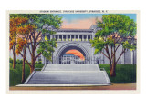 Syracuse, New York - Syracuse University; Stadium Entrance View Posters