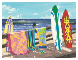 Surf Boards Poster by Scott Westmoreland