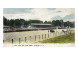 Saratoga Springs, New York - Field Stand View of Start Line Prints by  Lantern Press