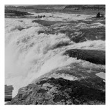Fishing at Celilo Falls on the Columbia River, 1954 Giclee Print by Virna Haffer