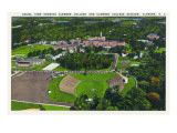 Clemson, South Carolina - Clemson College and Stadium Aerial View Art