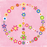 Peace Flowers II Poster von Louise Carey