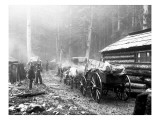 Milwaukee Road Construction Camp, Circa 1906 Giclee Print by Asahel Curtis