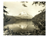 Mount St. Helens From Spirit Lake, 1923 Giclee Print by Asahel Curtis