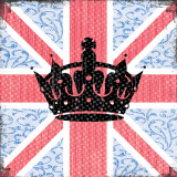 Union Jack Crown Prints by Louise Carey