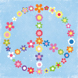 Peace Flowers I Prints by Louise Carey