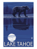 Bear at Night - Lake Tahoe, California Prints by  Lantern Press